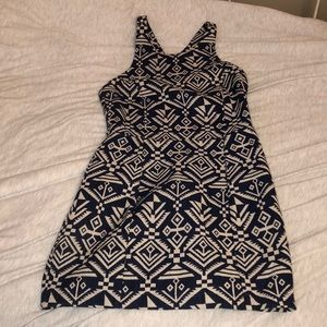Aztec Dress with back cutouts